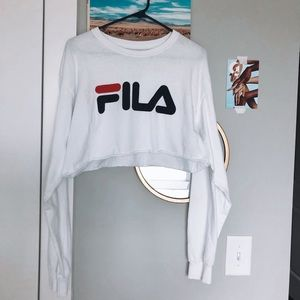 FILA cropped long sleeve tshirt
